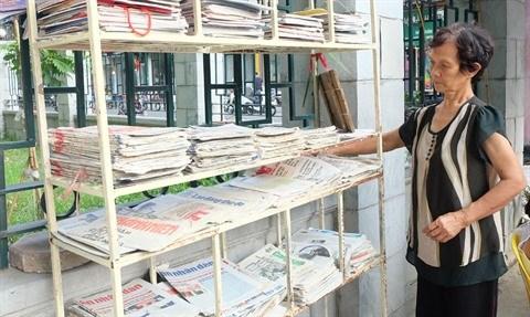 Une petite librairie gratuite pour les passants a Hanoi hinh anh 1
