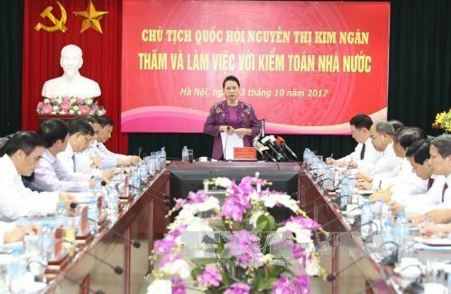 La presidente de l'Assemblee nationale travaille avec l'Audit d'Etat hinh anh 1
