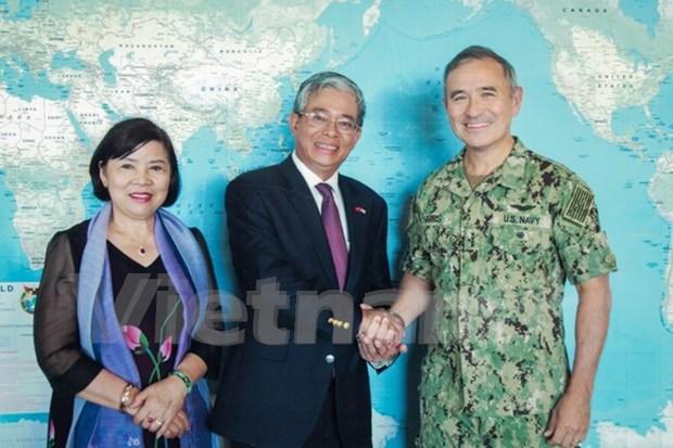 L'ambassadeur du Vietnam visite le PACOM et l'Etat d'Hawai hinh anh 2