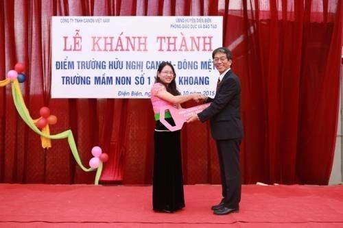 Canon Vietnam construit une ecole maternelle a Lai Chau hinh anh 1