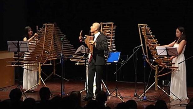 Belle association entre les instruments de musique en bambou et la musique classique occidentale hinh anh 1
