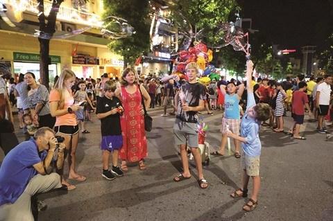 Les rues pietonnes de Hanoi se posent en label touristique hinh anh 1