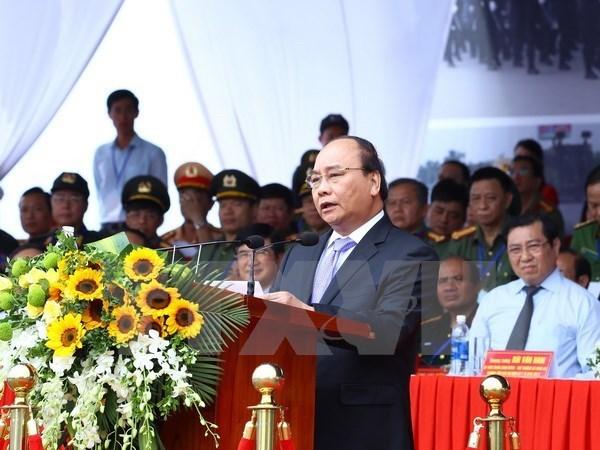 APEC 2017 : Ceremonie de depart et exercice antiterroriste a Da Nang hinh anh 1