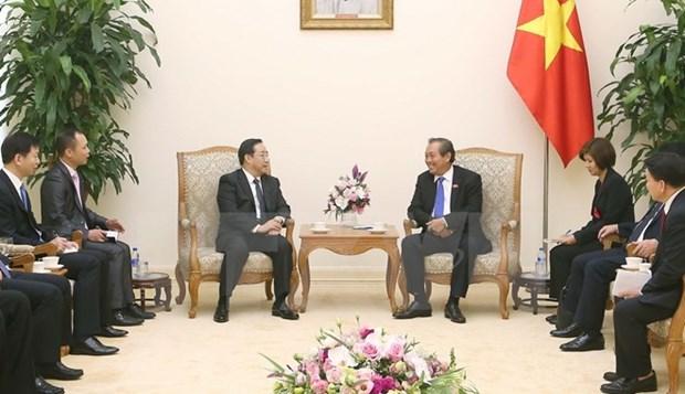 Le vice-PM Truong Hoa Binh recoit le vice-ministre chinois de la Securite publique Fu Zhenghua hinh anh 1