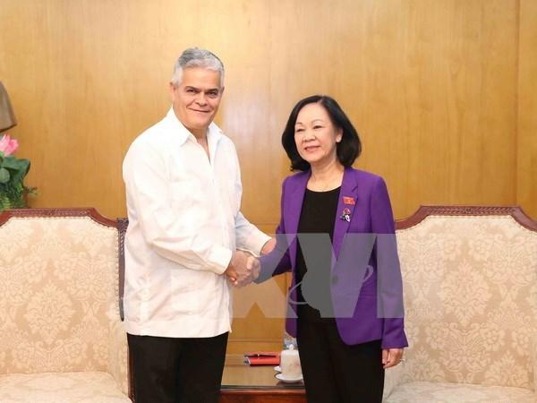 Le vice-president de l'AN Do Ba Ty recoit un reponsable cubain hinh anh 2