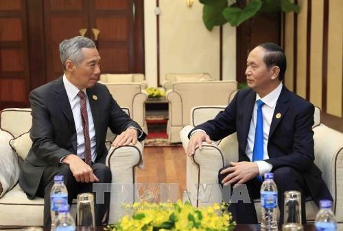 APEC 2017: le chef de l'Etat promet des conditions optimales pour les investisseurs singapouriens hinh anh 1