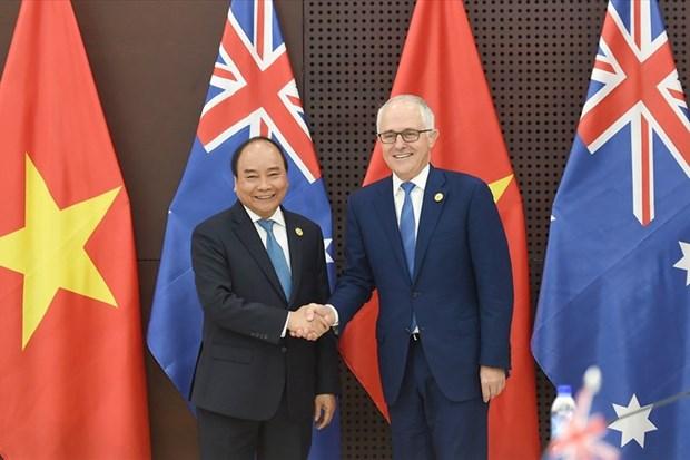 APEC 2017: les resultats de l'entretien entre les deux Premiers ministres vietnamien et autralien hinh anh 1