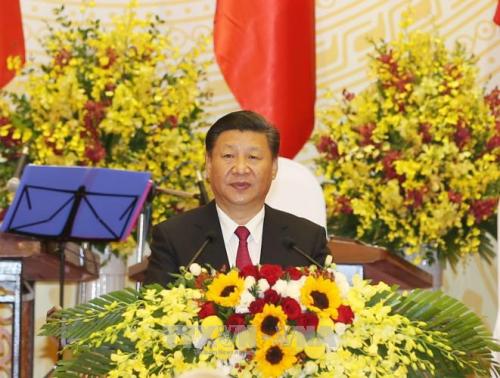 Reception solennelle en l'honneur du president chinois Xi Jinping hinh anh 2