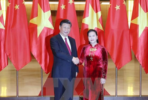 Vietnam-Chine : Entrevue entre Nguyen Thi Kim Ngan et Xi Jinping hinh anh 1