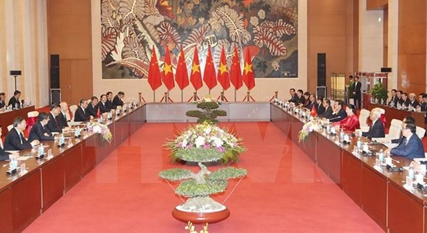 Vietnam-Chine : Entrevue entre Nguyen Thi Kim Ngan et Xi Jinping hinh anh 2