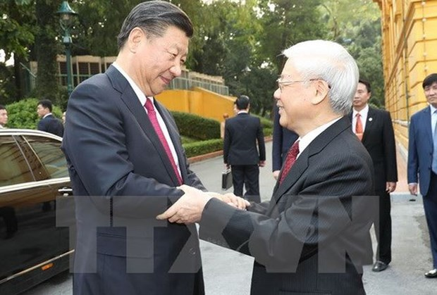 Vietnam-Chine : Entretien entre Nguyen Phu Trong et Xi Jinping hinh anh 1