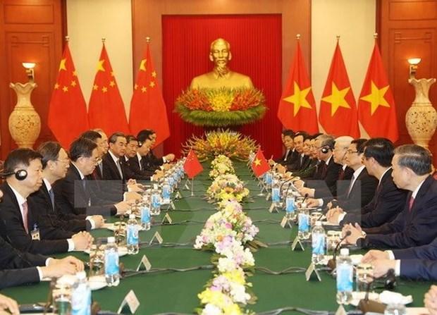 Vietnam-Chine : Entretien entre Nguyen Phu Trong et Xi Jinping hinh anh 2