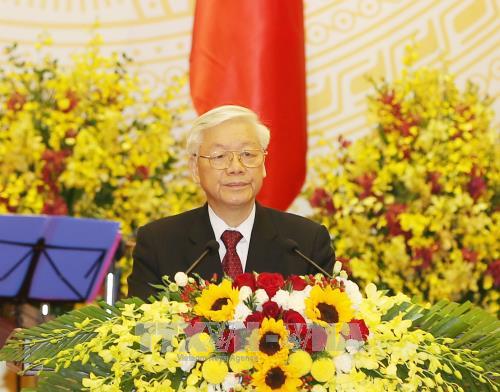 Reception solennelle en l'honneur du president chinois Xi Jinping hinh anh 1