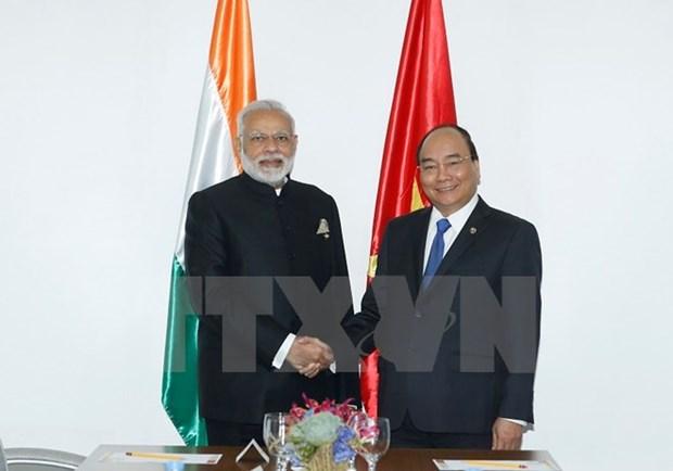 Vietnam-Inde : entrevue entre les deux PM Nguyen Xuan Phuc et Narendra Modi hinh anh 1