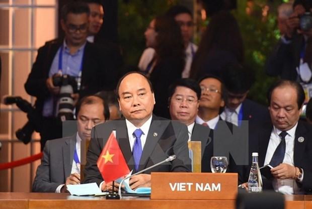 Le Premier ministre Nguyen Xuan Phuc lors du sommet de l'Asie de l'Est hinh anh 1