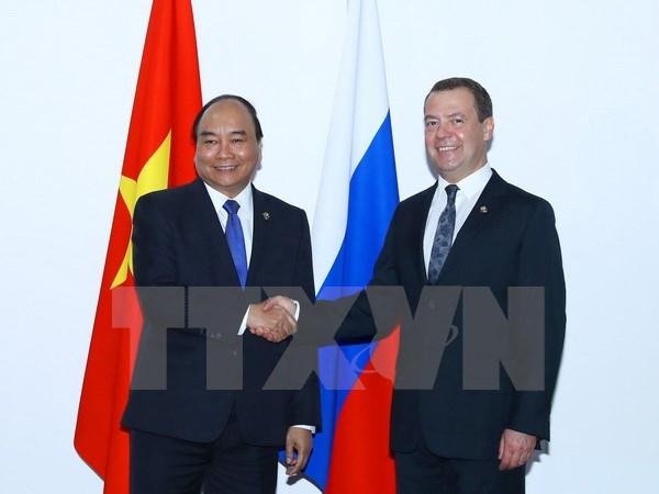 Le PM rencontre les dirigeants russe et philippin en marge du sommet de l'ASEAN hinh anh 1