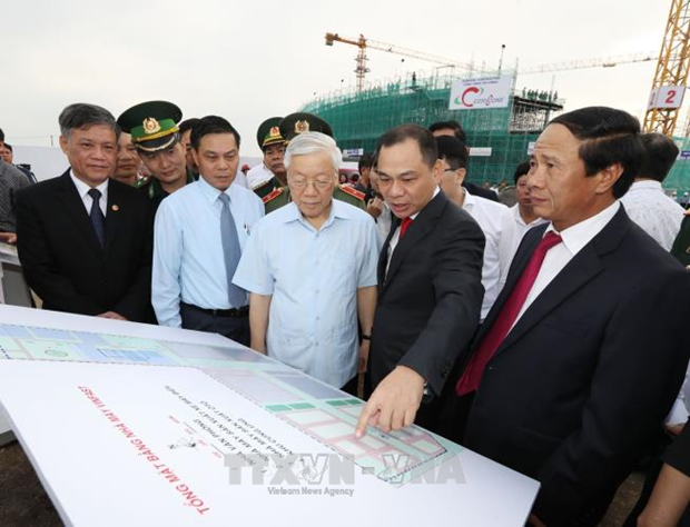 Le secretaire general Nguyen Phu Trong travaille a Hai Phong hinh anh 3