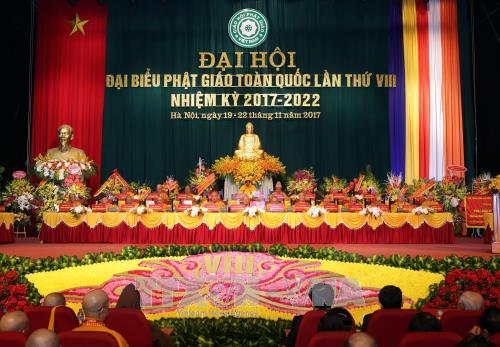 Le 8e Congres national de l'Eglise bouddhique du Vietnam s'ouvre a Hanoi hinh anh 1