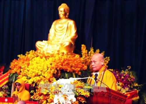 Le 8e Congres national de l'Eglise bouddhique du Vietnam s'ouvre a Hanoi hinh anh 3