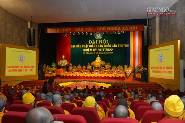 Cloture du 8eme Congres national de l'Eglise bouddhique du Vietnam hinh anh 1