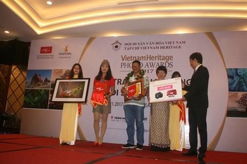 Remise des prix du concours de photos sur le patrimoine du Vietnam 2017 hinh anh 1