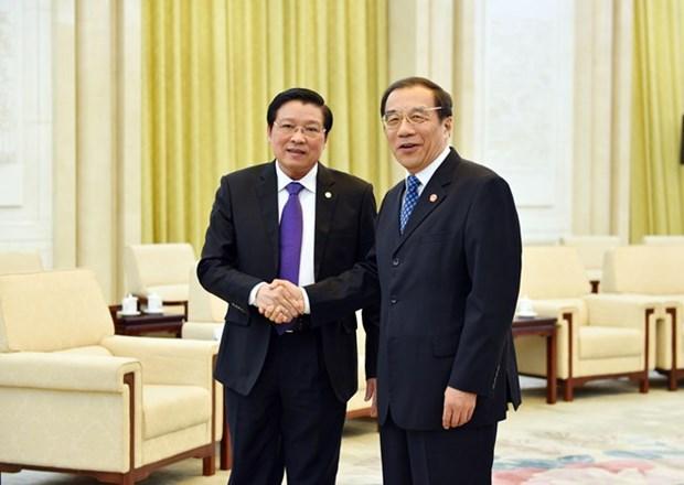 Une delegation du PCV effectue une visite de travail en Chine hinh anh 1
