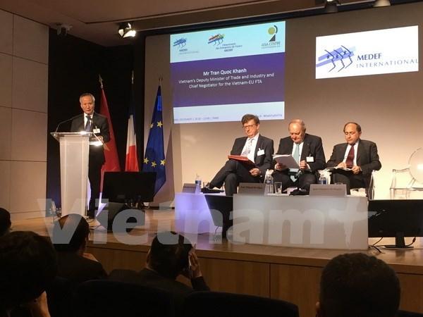 L'accord de libre-echange Vietnam-UE serait acheve en 2018 hinh anh 1