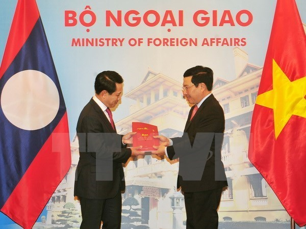 Consultation annuelle au niveau ministeriel Vietnam-Laos a Hanoi hinh anh 1