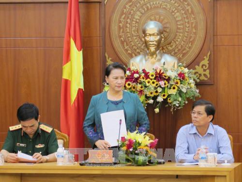 La presidente de l'Assemblee nationale se rend dans la province de Khanh Hoa hinh anh 1