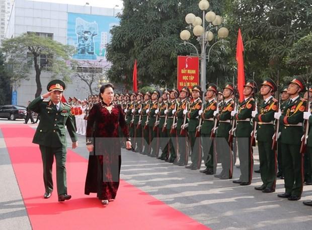 La presidente de l'AN travaille avec le commandement de la capitale hinh anh 1