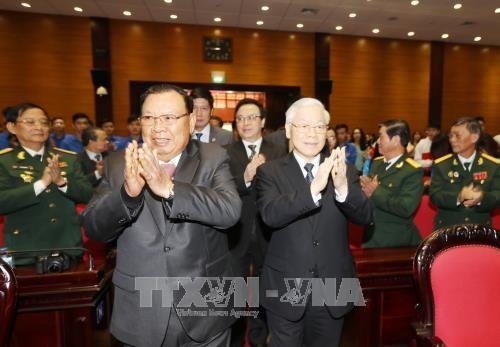 Le president laotien exalte la solidarite speciale Vietnam-Laos hinh anh 1