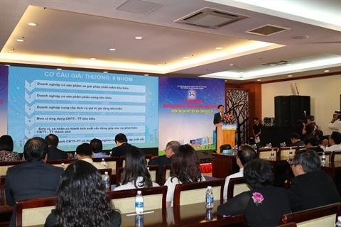 Ho Chi Minh-Ville : Vingt organisations et individus du secteur des TIC a l'honneur hinh anh 1