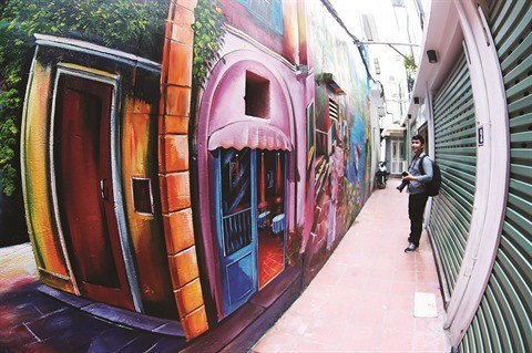 Le street art appose sa touche dans la capitale hinh anh 2