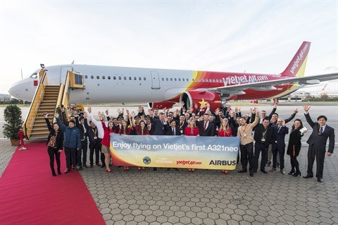 Vietjet recoit son premier Airbus A321neo hinh anh 1
