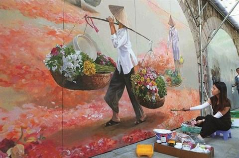 Le street art appose sa touche dans la capitale hinh anh 1