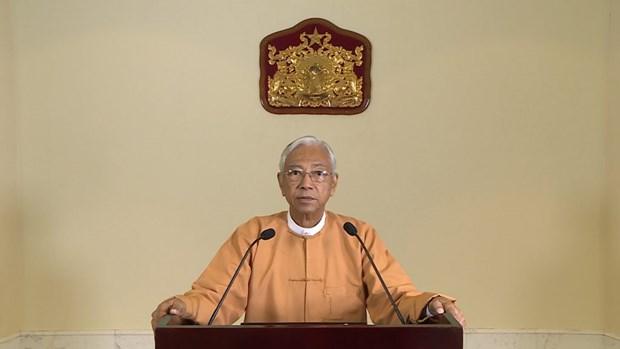 Le president birman s'engage a construire une republique federale democratique hinh anh 1