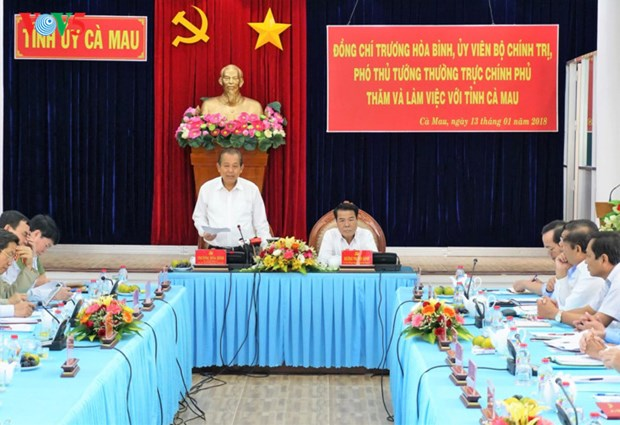 Deplacement du vice-Premier ministre Truong Hoa Binh a Ca Mau hinh anh 1