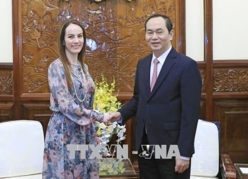 Le president Tran Dai Quang recoit la presidente de l'UIP hinh anh 1