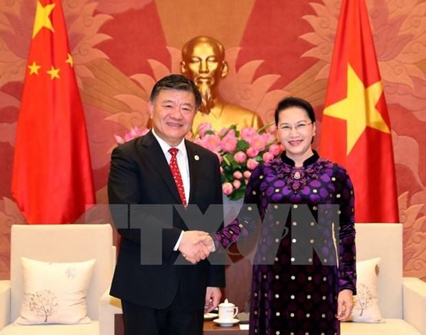 La presidente de l'AN recoit le vice-president de l'Assemblee populaire nationale de Chine hinh anh 1