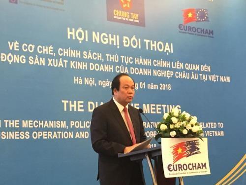 Dialogue sur les politiques avec les entreprises europeennes hinh anh 1