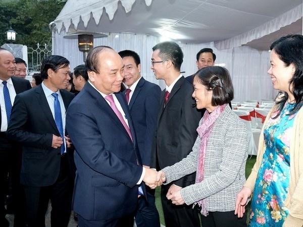 Le PM Nguyen Xuan Phuc lance les travaux de l'ambassade du Vietnam en Inde hinh anh 2