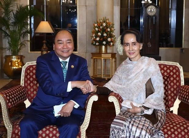 Le Premier ministre rencontre des dirigeants de differents pays en Inde hinh anh 1