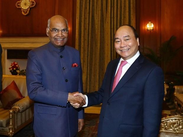 Entrevue entre le PM Nguyen Xuan Phuc et president indien Ram Nath Kovind hinh anh 1