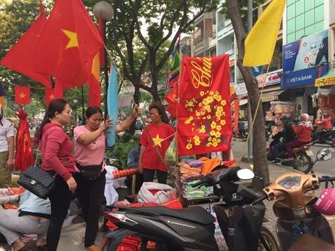 Championnat d'Asie U23: les drapeaux et banderoles en rupture de stock hinh anh 1