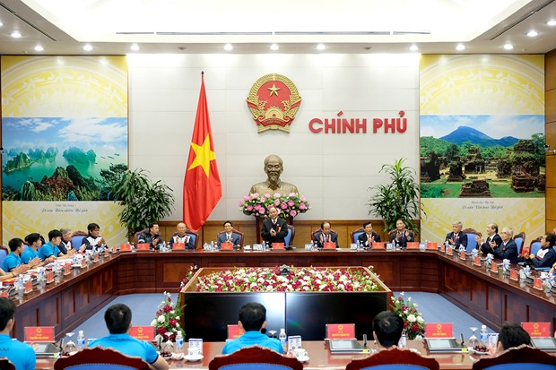 Une joie tellement immense, dit le PM Nguyen Xuan Phuc a l'equipe U23 hinh anh 3