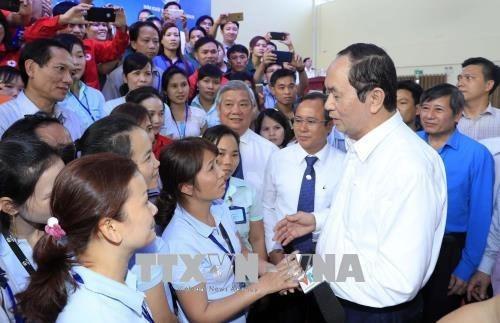 Le president Tran Dai Quang travaille a Ba Ria-Vung Tau et Binh Duong hinh anh 3