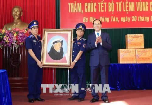 Le president Tran Dai Quang travaille a Ba Ria-Vung Tau et Binh Duong hinh anh 1