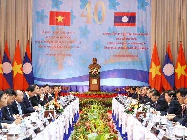 """La 40e session du Comite intergouvernemental Vietnam-Laos, """"un franc succes"""" hinh anh 1"""