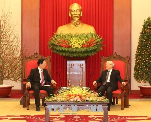 Le secretaire general du Parti recoit l'ambassadeur chinois hinh anh 1