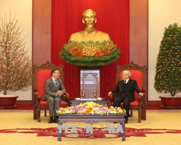 Le secretaire general du Parti Nguyen Phu Trong recoit l'ambassadeur de France hinh anh 1